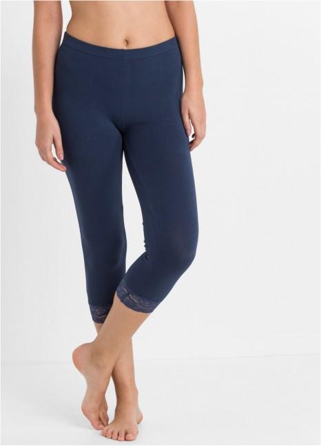 Lace Capri Leggings Blue