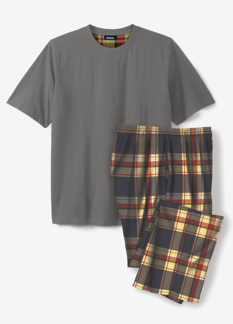Grey Multi Checkered Pjs