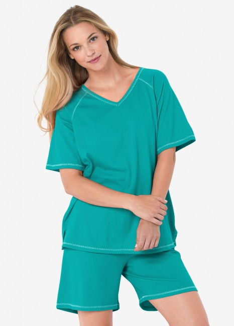 Teal Shorty Pj