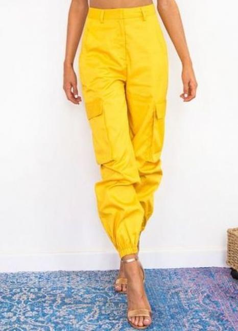 Petite YO plain cargo pants
