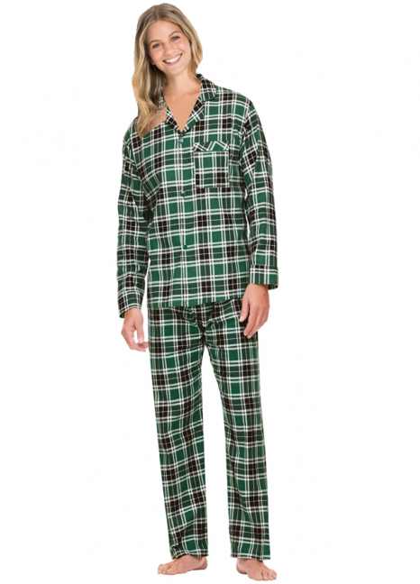 Flannel Green Checked Pjs