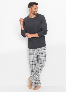 Grey Checkered Pjs BP