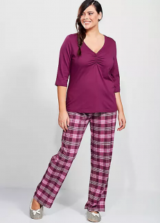 Purple Check Pjs