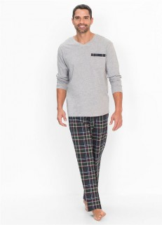 Grey Pocket Checkered