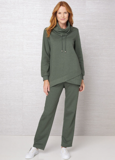 Cowl Neck Sweatshirt with pants