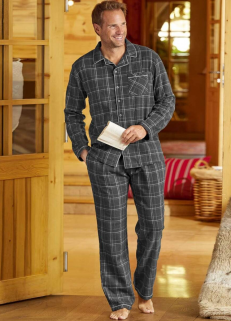 Grey Checked Pyjamas