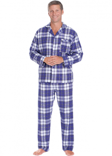 Bue Checked Pyjamas
