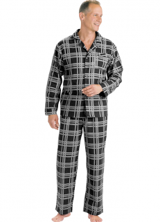 Black Checked Pyjamas