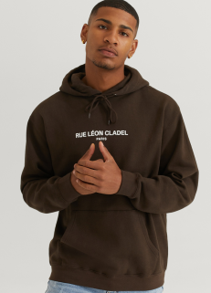 Sweatshirt Hood Brown