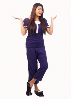 Blue Button Pj Set