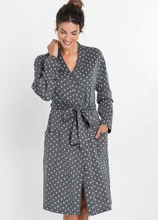 Printed Robe Grey